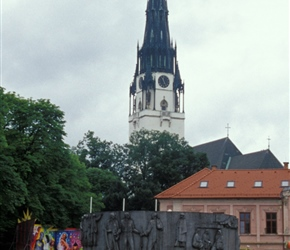 Church of the Assumption of Mary in Spisska Nova Ves, the highest spire in Slovakia
