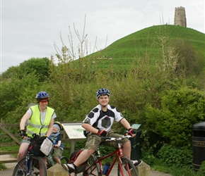 Gabriel and Siobhan arrive at Glastonbury Tor