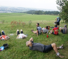 Sleeping off our picnic at Poles Coppice between Minsterley and Pulversbatch