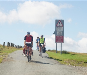 Richard and Roddy crosses the Long Mynd