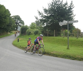 Finlay and Roddy round the bend at Eyton