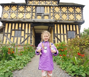 Louise at Stokesay Castle