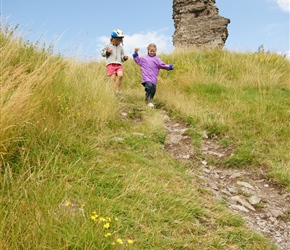 Louise and Kate descend from Clun Castle