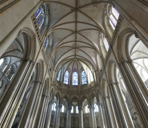 Inside Coutances Cathedral