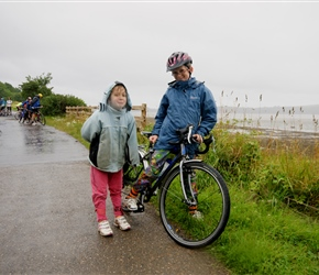 James and Louise in the rain between Torrs Point and Mute Hill