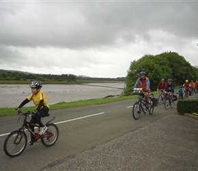 Christopher on his first solo ride heads towards Kirkcudbright