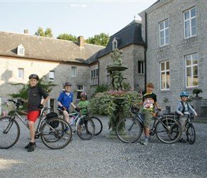 Islabikes at Chateau de Halloy