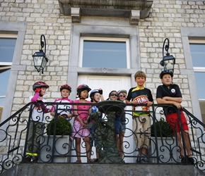 Children at Chateau de Halloy