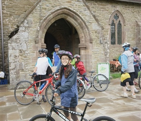Lucy at Yarpole, on a solo bike this year