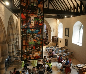 Gallery cafe at Yarpole. Set up with the church it's a lovely location