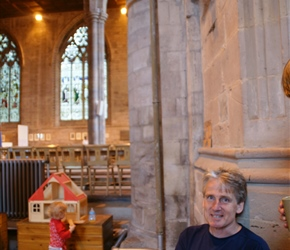 Neil in the church teastop at Leominster