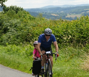 Roddy and Morven heads for Powys and into Wales