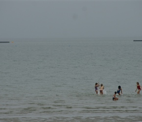 Swimming in the sea at St Vaast