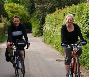 Kevin and pauline approach Stinchcombe