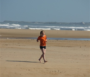 Louise at Alnmouth