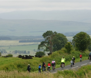 Descending towards Chillingham