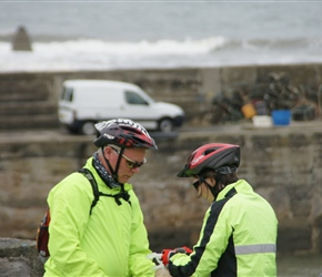 Malcolm and Janice at Craster