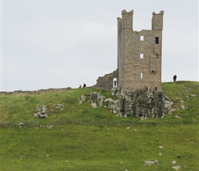 Walking towards Dunstanburgh Castle