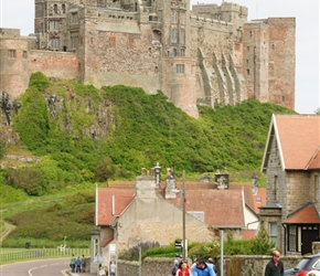 Andy and Jenny leave Bamburgh Castle