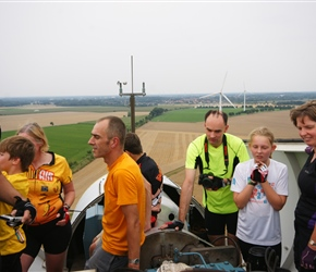 Smith family atop the windmill