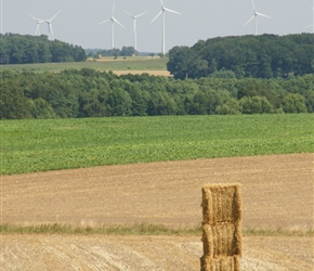 Big bales and wind turbines