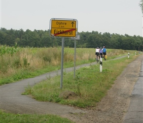 Germany has lots of cycle paths. Even in this rural area they were aside most roads. Well maintained and usually wide enough