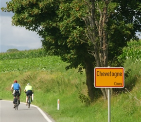 Approaching Chevetogne