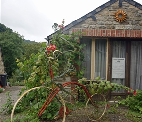 Bicycle sculpture in Durnal