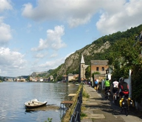 Entering Dinant