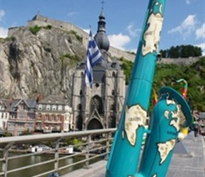 Dinant had lots of colorful Saxaphones dotted about the place