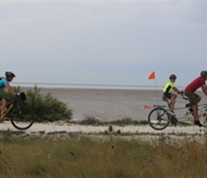 Liam, Gary, Carrie and Freya on coast cycleway