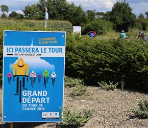 Next year the Tour de France is looping the area for 5 days and doing some of the roads we've been on