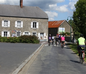 Through Vaudrimesnil and nearly back to the chateau