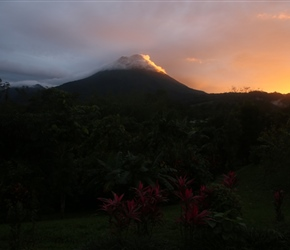 Sunset over Arenal Volcano