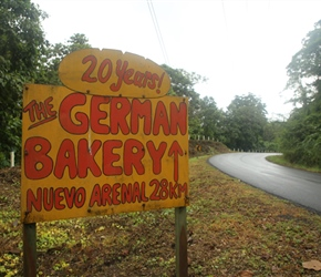 German Bakery, our destination