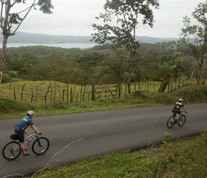 Ian descends past Lake Arenal