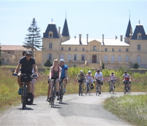 Gary and Abbie and Chateau near Bordeaux
