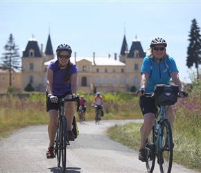 Sarah and Jo and Chateau near Bordeaux