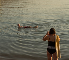 Martyn floats in the Dead Sea, always a good photo opportunity
