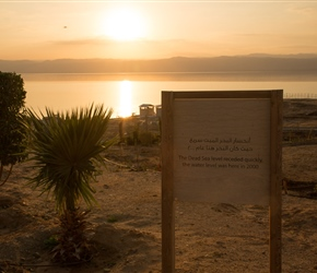The Dead Sea is dropping by 1 metre a year. A combination of too much out and too little in via the Jordan River