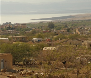 Communities close to the Dead Sea (seen in the background)