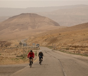 Starting from the reservoir, it's a long climb that starts shallow as here, rising through the Wadi