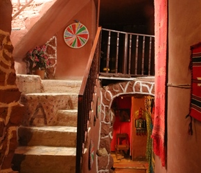 Dana Towers is a series of converted houses, full of narrow staircases and quirky areas