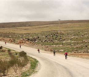 Heading away from Shawbak Castle, passing another goat herd