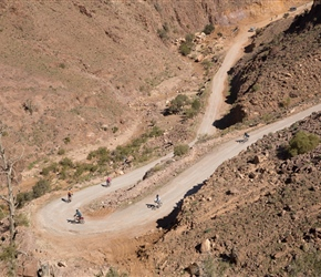 Bottom of the hairpin and onto the only real climb of the day