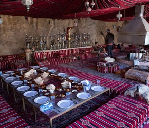 All set up for lunch at Little Petra Bedouin Camp