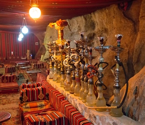 "Hubbly bubbly, Sisha, hookah or in Arabic: ""Argilah"", the water-pipe is a common tool to smoke different flavors of tobacco in Jordan"