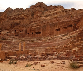 The Theatre in Petra, originally Hellenistic in design and dating from the 1st century AD was refurbished by the Romans after they annexed Nabatea in 106AD