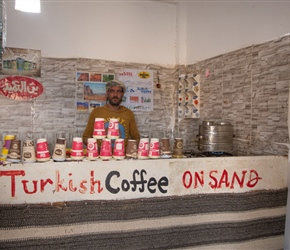 At 1DR per coffee/tea (£1) and allowing us to eat our lunch there, this kindly Jordanian sums the place up