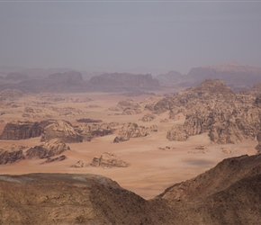 View of Wadi Rum from Um Addami mountain